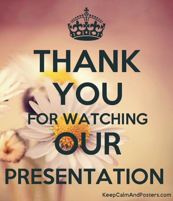 Thank You For Watching Our Presentation Presentation Powerpoint Background Design Poster Generator