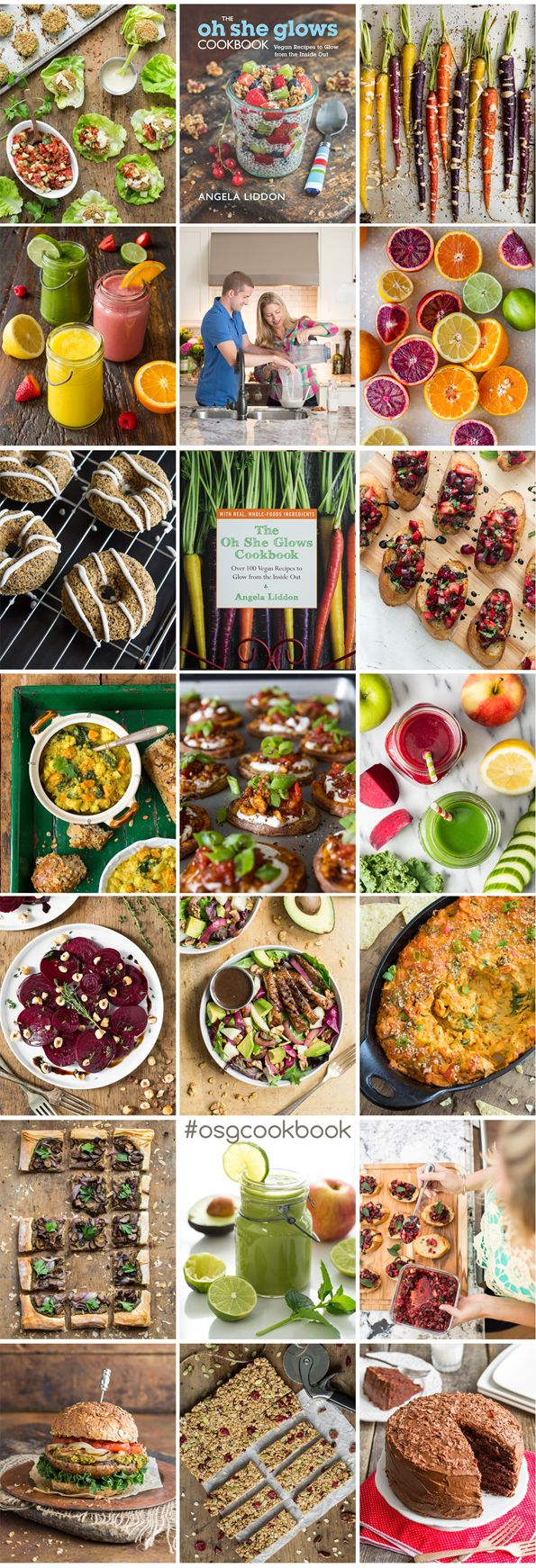 The Oh She Glows Cookbook! Packed with over 100 healthy vegan recipes and over 100 full-page photos #osgcookbook