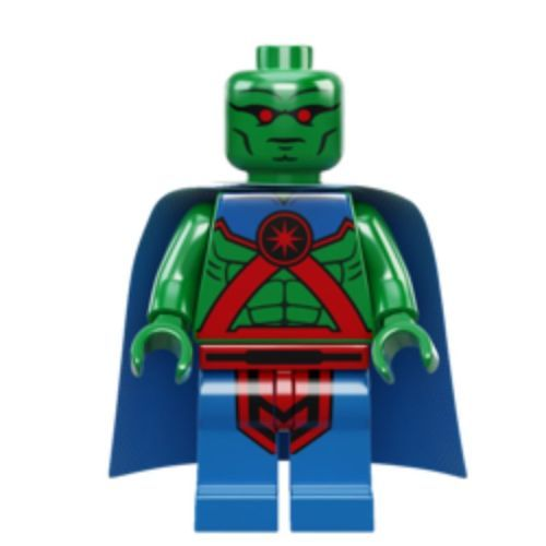 LEGO DC Super Heroes Minifigure Martian Manhunter was once a martian called J'onn J'onzz on Mars. After all the natives died and the planet had been invaded, J'onn J'onzz was teleported by a scientist from our planet. From there on, he was stranded on Earth. He then discovered the power that he had should have been used to be a hero. So J'onzz now works as a superhero known as The Martian Manhunter.