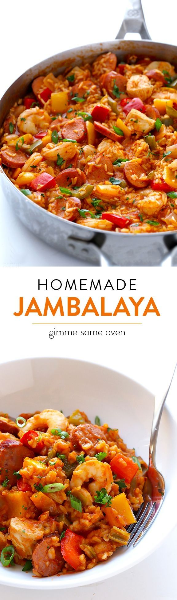 Learn how to make homemade jambalaya with this delicious (and easy!) recipe   gimmesomeoven.com by rtatamo