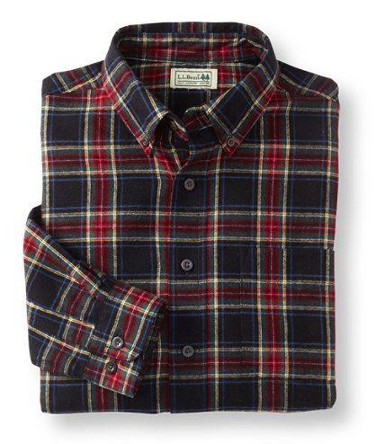 Ll bean scotch plaid flannel shirt in black stewart black for Black watch plaid flannel shirt