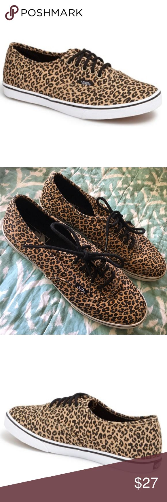 Women's Vans Authentic Lo Pro Leopard Sneaker Women's Vans Authentic Lo Pro Leopard Sneaker. Size 8.5. Only worn once, excellent condition. Purchased from Nordstrom. Vans Shoes Sneakers