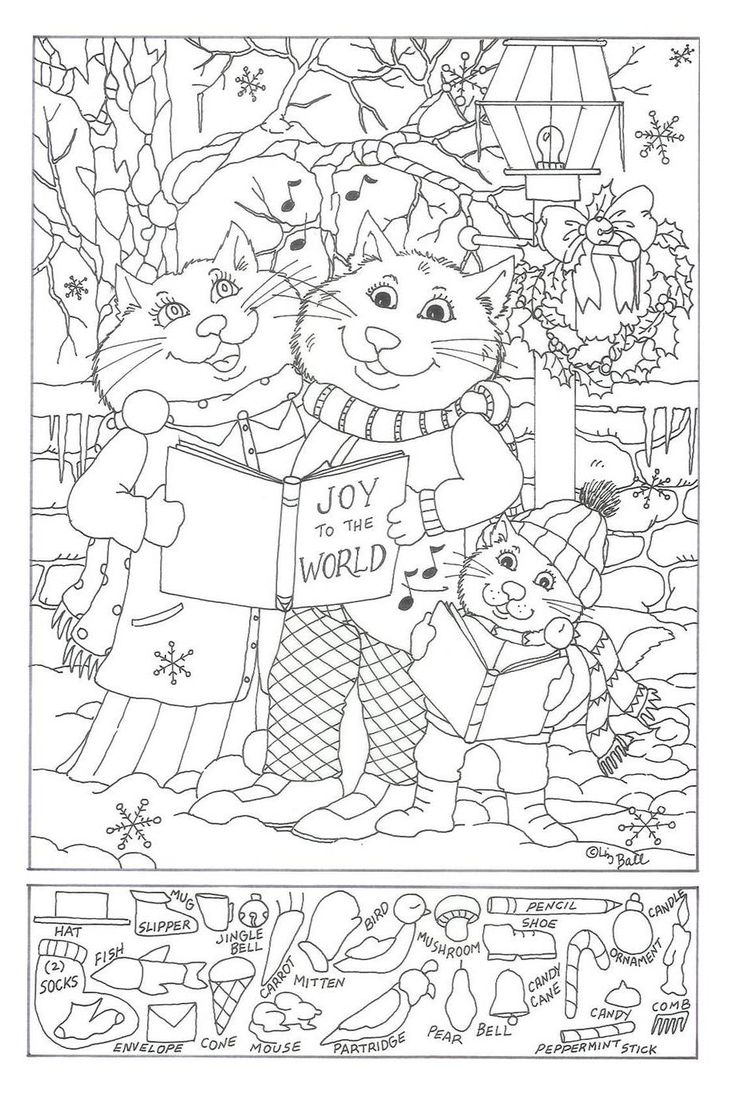 Free hidden object worksheet coloring pages
