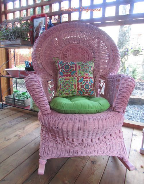 Sweet pink wicker rocking chair - The Top 4 Fan Favs From the Sunday Showcase