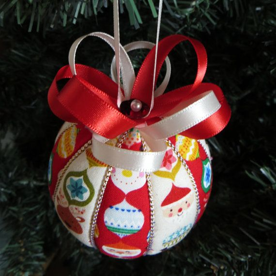Christmas Ornament Nordic Christmas Stripes by OrnamentDesigns