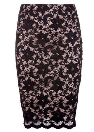 Lipsy lace pencil skirt, £35