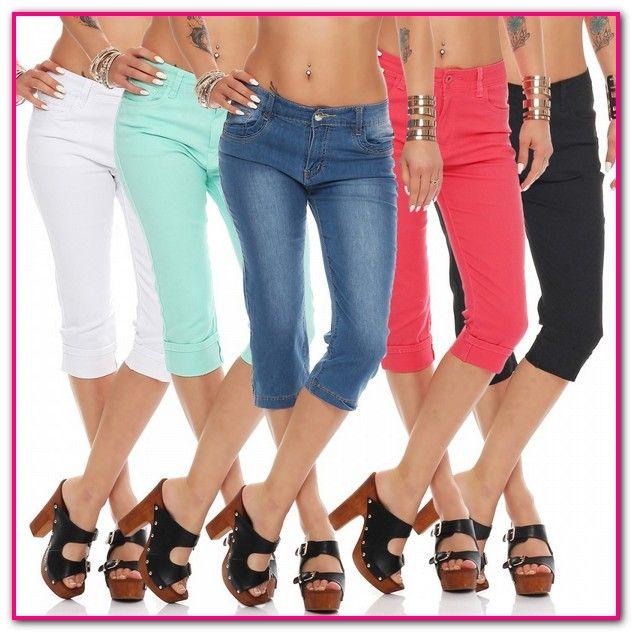 0d2209aefa9d86 Dreiviertel Hosen Damen Jeans