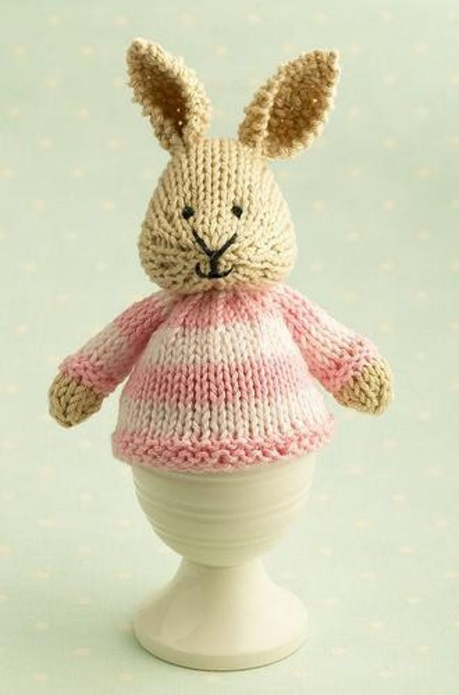 The Bunny Egg Cosy is great for knitting up yarn scraps. A quick Easter knit, find the pattern on Loveknitting.com