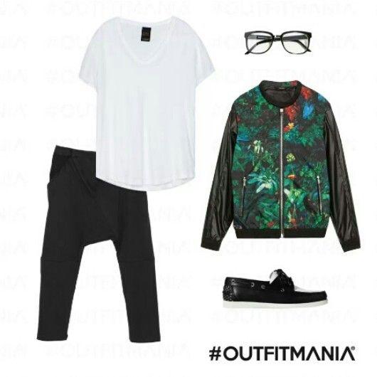 lo stile un pò rockettaro! #outfitmania #totalblack #moda #fashion #spring #jacket #pant #tshirt #shoes #black #style #weremaniac