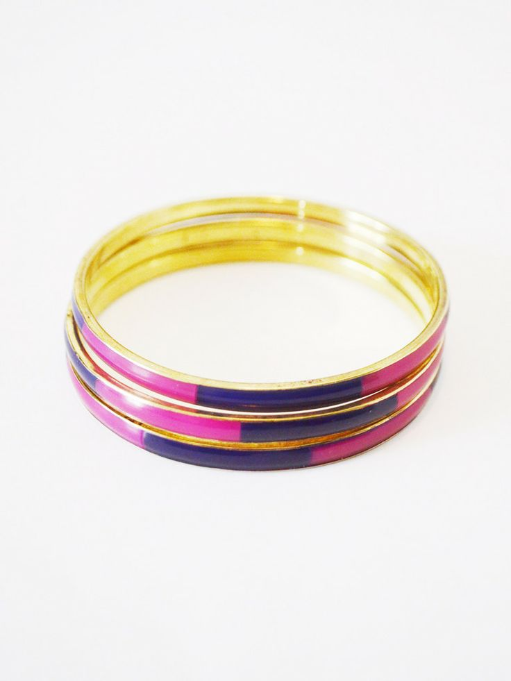 Mosaic Tile Bangles in Raspberry @4 All Humanity