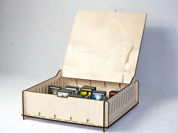 Trading Card Storage Box Magic The Gathering Http E Raptor Pl Wooden Pinterest Mtg