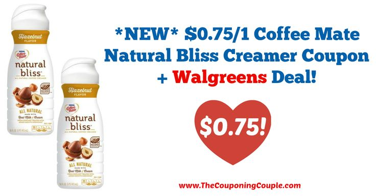 *NEW* $0.75/1 Coffee Mate Natural Bliss Creamer Coupon + Walgreens Deal!  Click the link below to get all of the details ► http://www.thecouponingcouple.com/new-0-751-coffee-mate-natural-bliss-creamer-coupon-walgreens-deal/ #Coupons #Couponing #CouponCommunity  Visit us at http://www.thecouponingcouple.com for more great posts!
