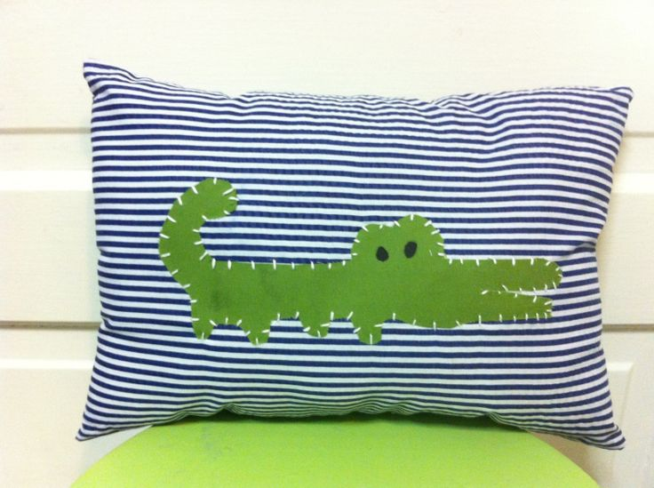 Alligator Nursery Pillow Madras Decor 22 00 Via Etsy