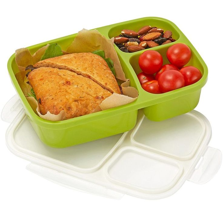 9. 3-Compartment Bento Lunch Box #greatist http://greatist.com/eat/the-best-meal-prep-containers
