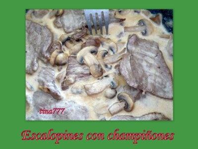 A el rincón de cocinar: Escalopines con champiñones