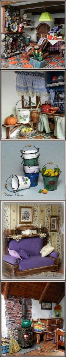 Волшебный кукольный мир Елены Никитиной: домики, румбоксы, миниатюры