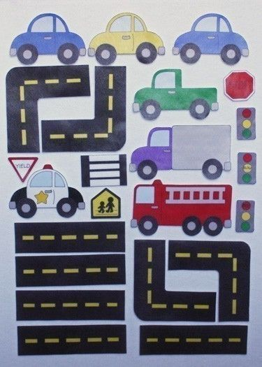 Hit the Road - ePattern for Print and Play Felt Figures. $6.00, via Etsy.