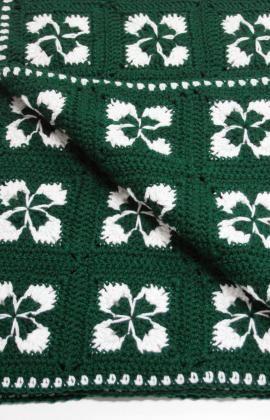 Crochet Shamrock Afghan Crochet: Free Pattern, Crochet Afghans, Afghan Patterns, Crochet Blanket, Granny Square, Red Heart, Crochet Patterns, Shamrock Afghan, Crochet Shamrock