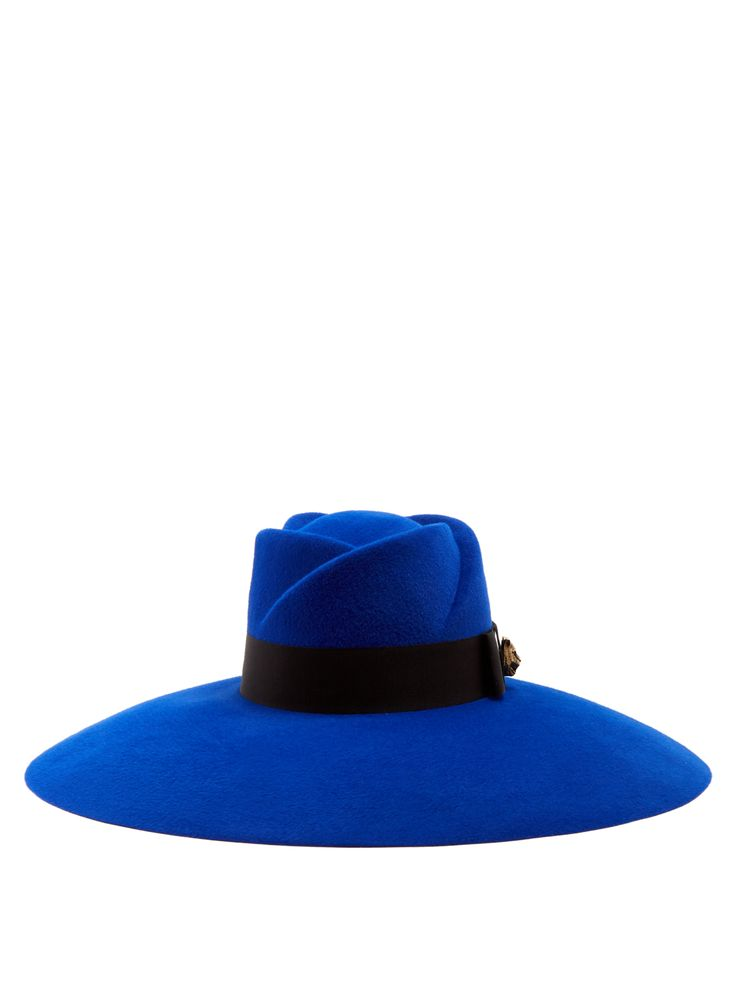 Fur-felt wide-brim trilby hat | Gucci | MATCHESFASHION.COM US
