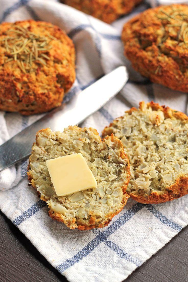 (Grain-Free) Rosemary Cauliflower Biscuits