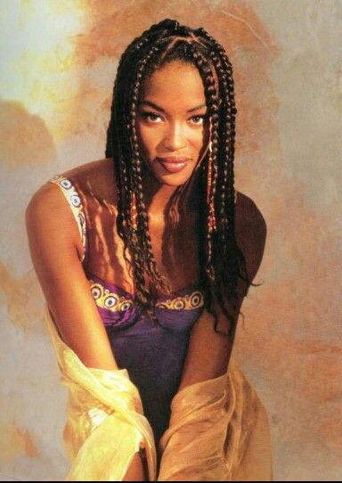 Braided Beauty Naomi Campbell • Box Braids: Hair Styles, Google ...