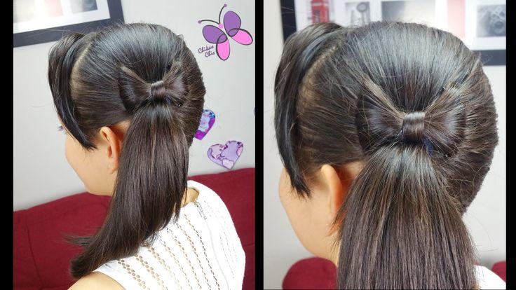 Cola y Lazo de Lado - Side Hair Bow | Peinados Faciles y Rapidos | Peina...