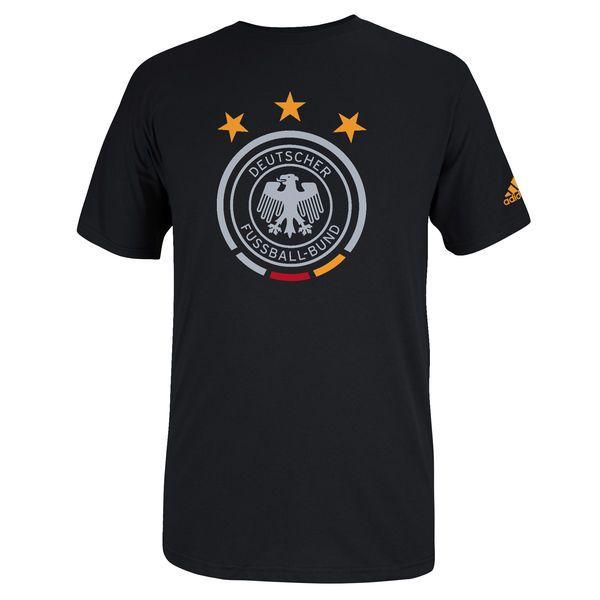 Germany adidas Futbol Crest T-Shirt - Black