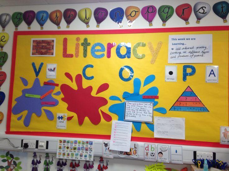 Literacy working wall Yr 1/2