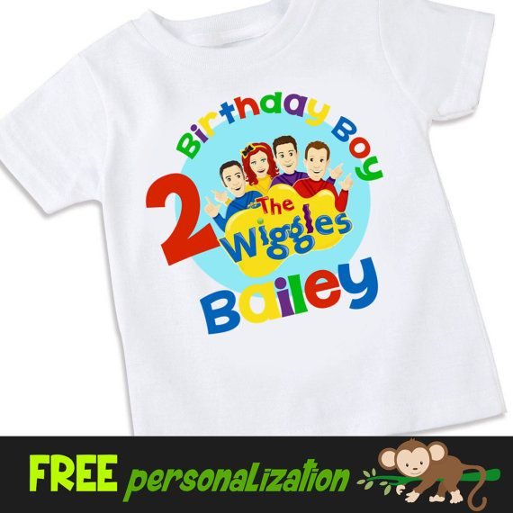 The Wiggles inspired birthday Tshirt Shirt by swingNmonkeez