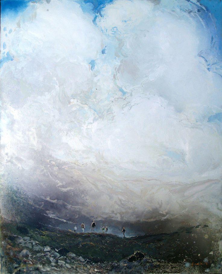 Tuomo Saali, Great Illusion, oil on canvas, 2016,100x80cm
