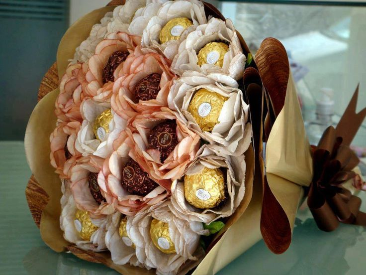 Chocolate bouquet. In case you get hungry...?