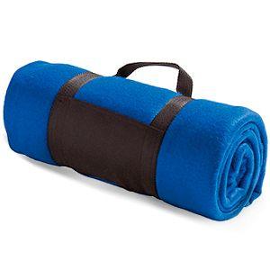 Дорожный флисовый плед Soft, синий - изготовление пледов на заказ