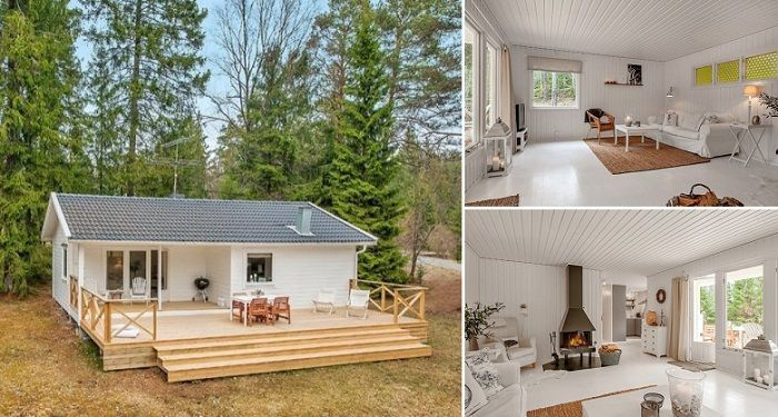 The quality and beauty of Swedish design is well-known, but still each and every design from that country continues to amaze us. This 613 square feet tiny house can be found in the Swedish woods and it is truly amazing.
