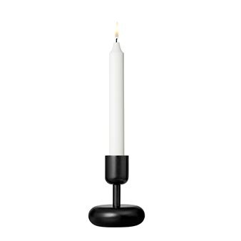 Nappula candleholder black - small 107 mm - Iittala