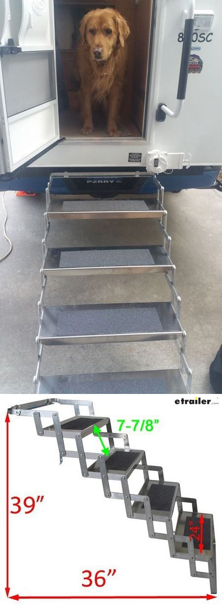 Made of durable, rustproof aluminum, these camper steps are built to last. Their light weight makes them easy to install and set up, and their sturdy construction will give you years of use. Non-slip tread on each step surface helps to ensure proper footing as you climb into or out of your camper or RV.