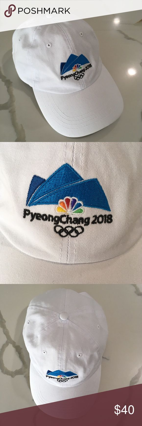 Pyeong Chang 2018 USA Olympic team apparel hat PYEONG CHANG ~   Olympics 2018  Pyeong Chang Olympic team hat USA Olympic team apparel  White dad hat  Adjustable strap  New with tags usa Accessories Hats