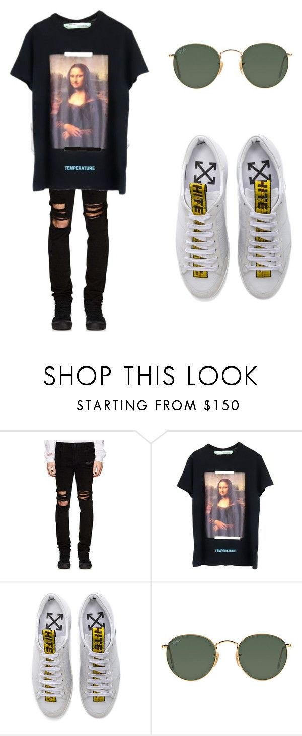 """""""homme #003"""" by isabelleciccone on Polyvore featuring RtA, Off-White, Ray-Ban, men's fashion and menswear"""