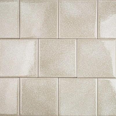 splashback tile roman selection iced light cream 4 in x 4 in x 8 splashback tilesglass mosaic depot 4x4