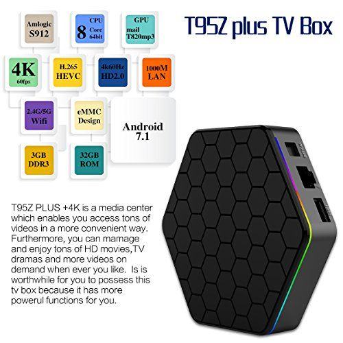 WEILY 2018 Newly Android TV Box T95Z Plus Android 7 1 with
