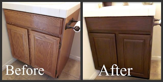 25 best ideas about staining oak cabinets on pinterest for Can i stain my kitchen cabinets darker