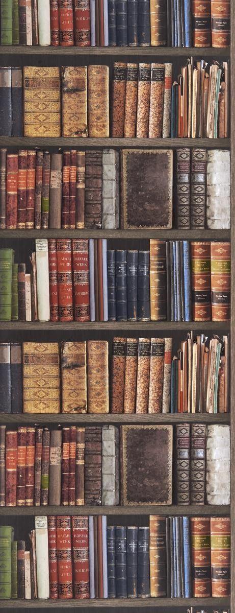 Die besten 25+ Tapete Bücherregal Ideen auf Pinterest Schicke