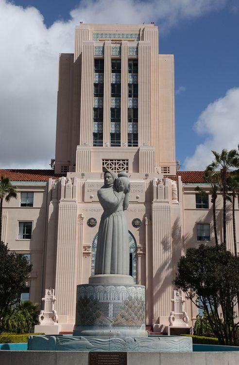 San Diego City & County Administration Building, San Diego, California #artdeco #architecture