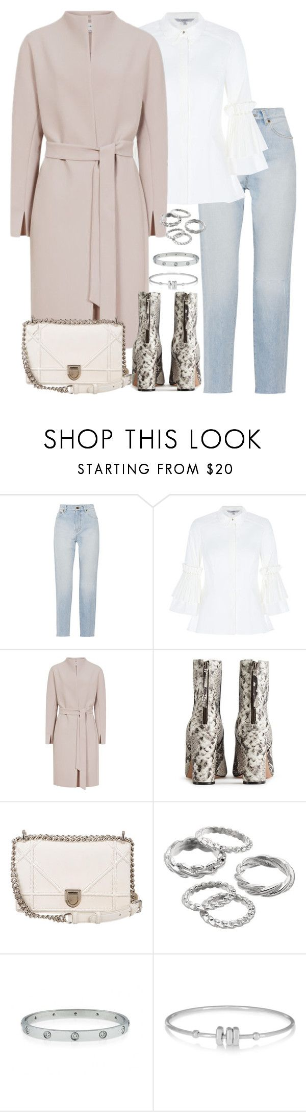 """""""Untitled #5344"""" by theeuropeancloset ❤ liked on Polyvore featuring Yves Saint Laurent, Nico, Christian Dior, Apt. 9 and Marc by Marc Jacobs"""