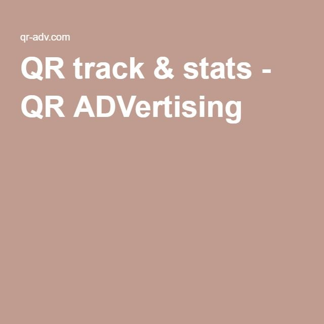 QR track & stats - QR ADVertising