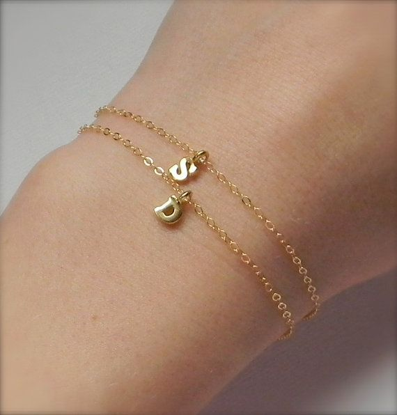 Initial Charms For Bracelets: 26 Best Initial Bracelets Images On Pinterest