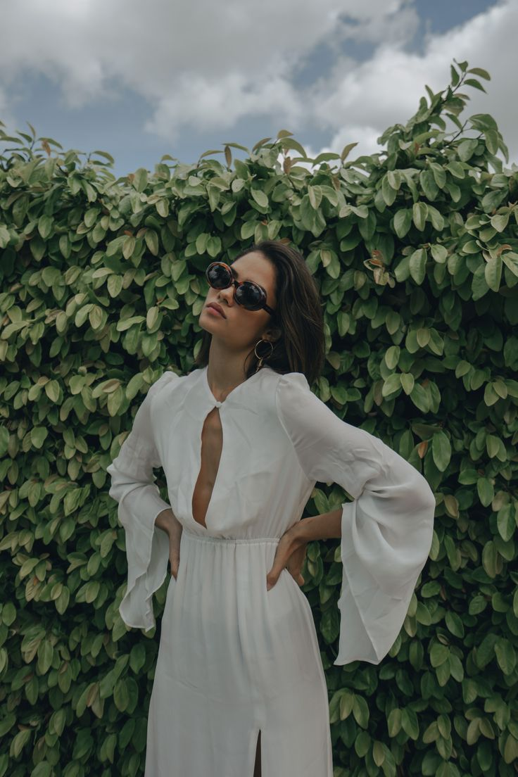 The AZZURRA Gown in White #StoneColdFox