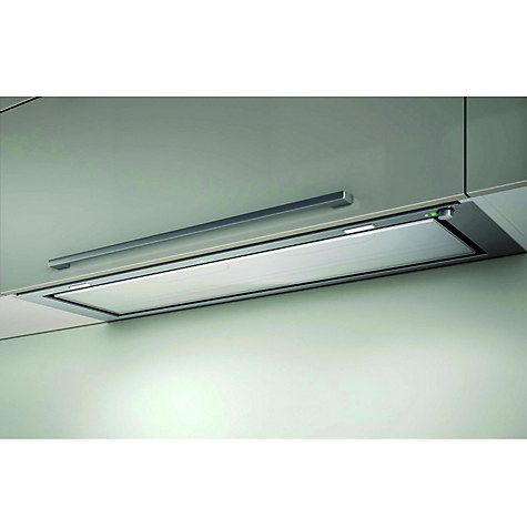 Buy Elica Hidden Integrated Cooker Hood, Stainless Steel and White Glass Online at johnlewis.com