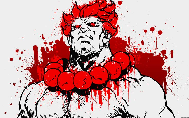 You are viewing the Street Fighter wallpaper named Blood Thirsty Akuma. Description from desktopio.blogspot.com. I searched for this on bing.com/images