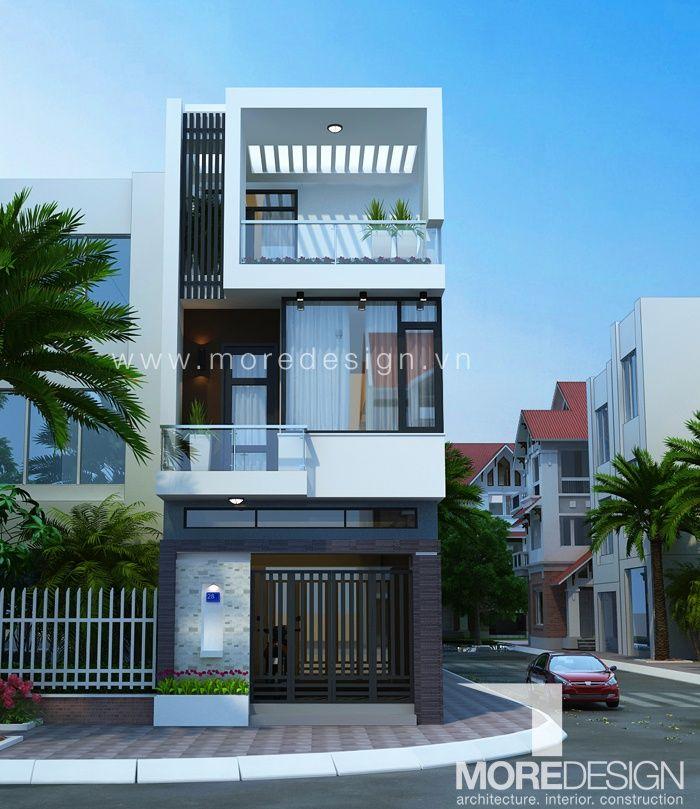 Tư vấn Mẫu Thiết kế nhà phố 4,5x16m 3 tầng kiến trúc hiện đại. Thiết kế nhà phố…