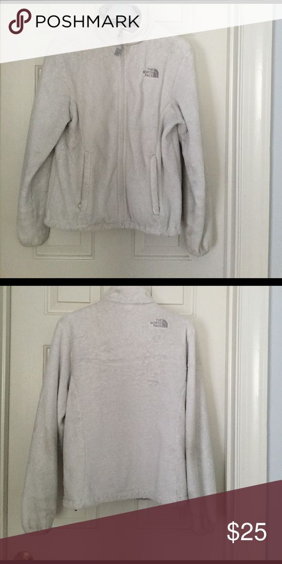 North Face Fleece, Small Soft white North Face fleece - bought on Poshmark but it's too small for me North Face Jackets & Coats